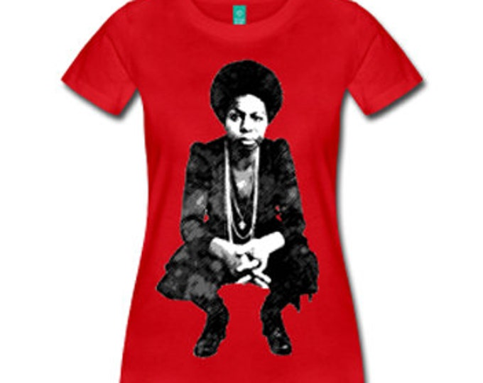 Young Nina Simone Women's Fitted T-Shirt - Red