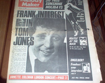 COLLECTIBLE MELODY MAKER NEWSPAPER SEPTEMBER 21 1974 IAN HUNTER ON COVER
