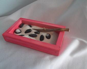 Mini Zen Garden, Zen Garden, Red Zen Garden, Pink Zen Garden, Little Zen Garden , Tiny Zen Garden