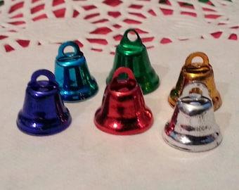 Charms, Bells,  Jingle Bells, Christmas Bells/Ornaments/ Charms/Pendants/Decor - 6pc - 12mm - Iron Bell