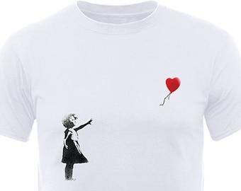 Banksy Girl Heart Balloon T-Shirt
