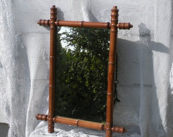 vintage faux bamboo mirror vintage mirror french vintage french country home antique