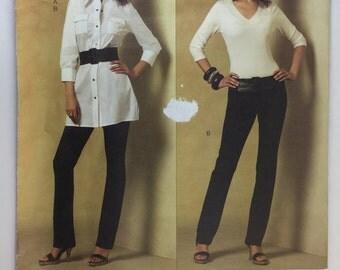 Vogue Pattern V2972 alice & olivia Vogue American Designer Misses'/ Misses' Petite Tunic and Pants sizes 4,6,8,10 uncut