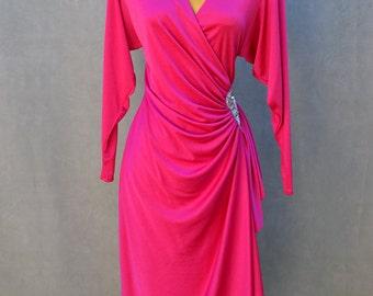 Magenta 1970's Evening Gown