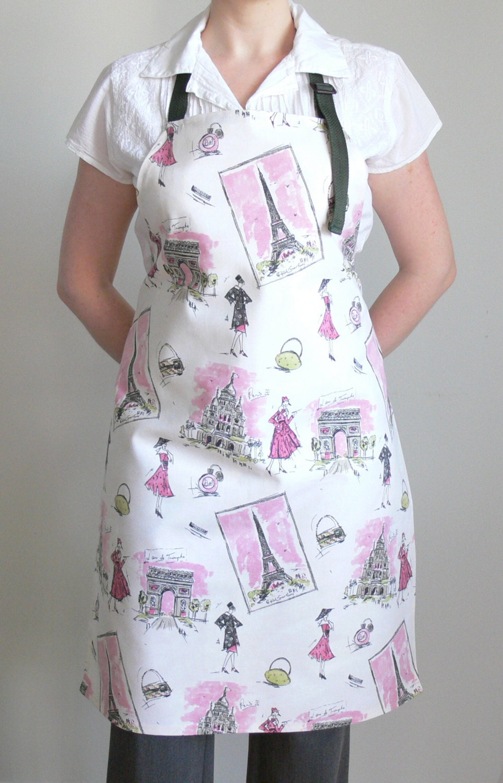 womens aprons paris adjustable apron kitchen apron. Black Bedroom Furniture Sets. Home Design Ideas