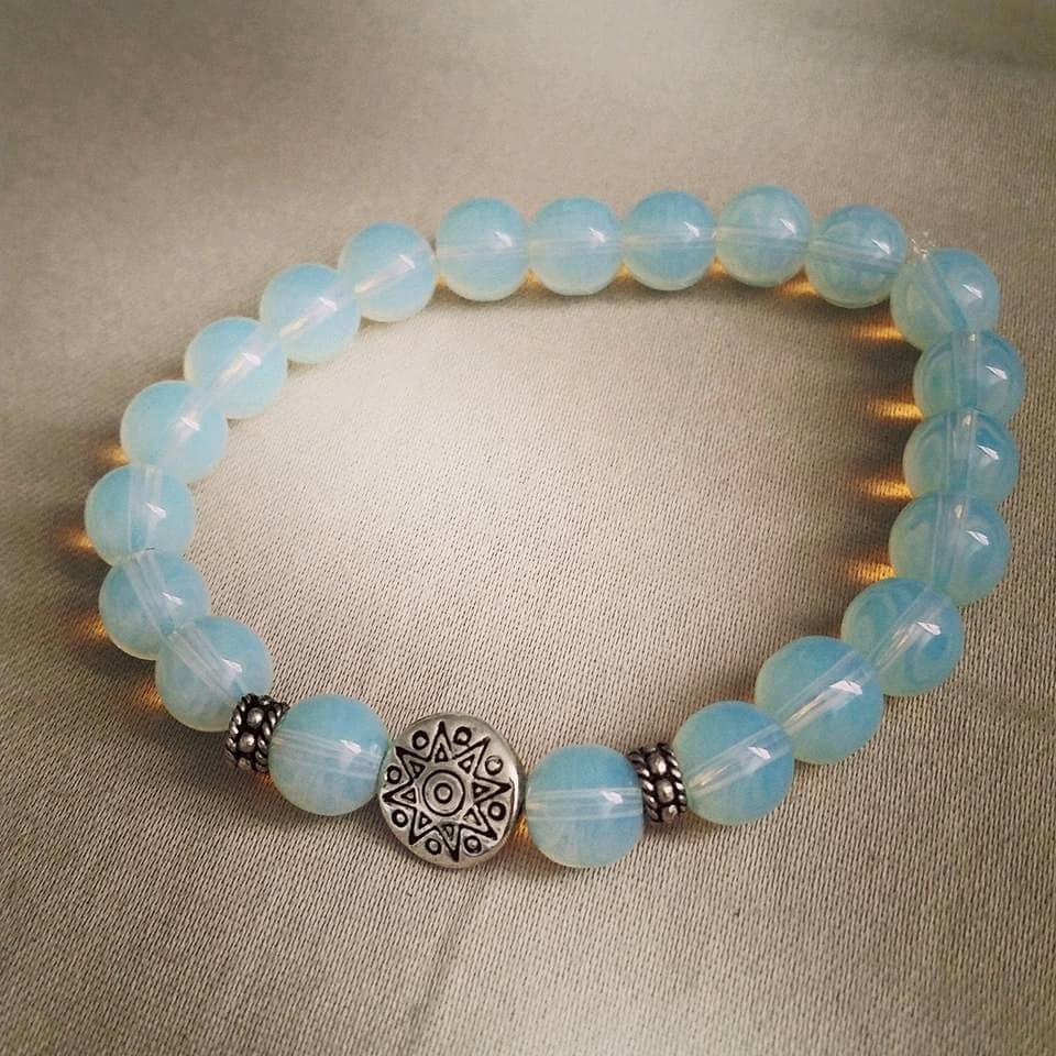 moonstone beaded bracelet by sacredconceptions on etsy