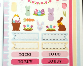 Easter, Pastel, Fits Erin Condren and other Planners, Planner Stickers, Kiss Cut, Calendar Stickers, Life Planner Stickers, Scrapbooking