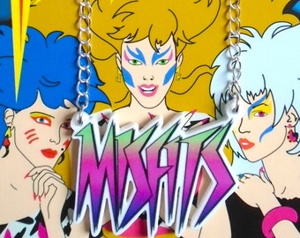 The Misfits Jem and the Holograms logo necklace