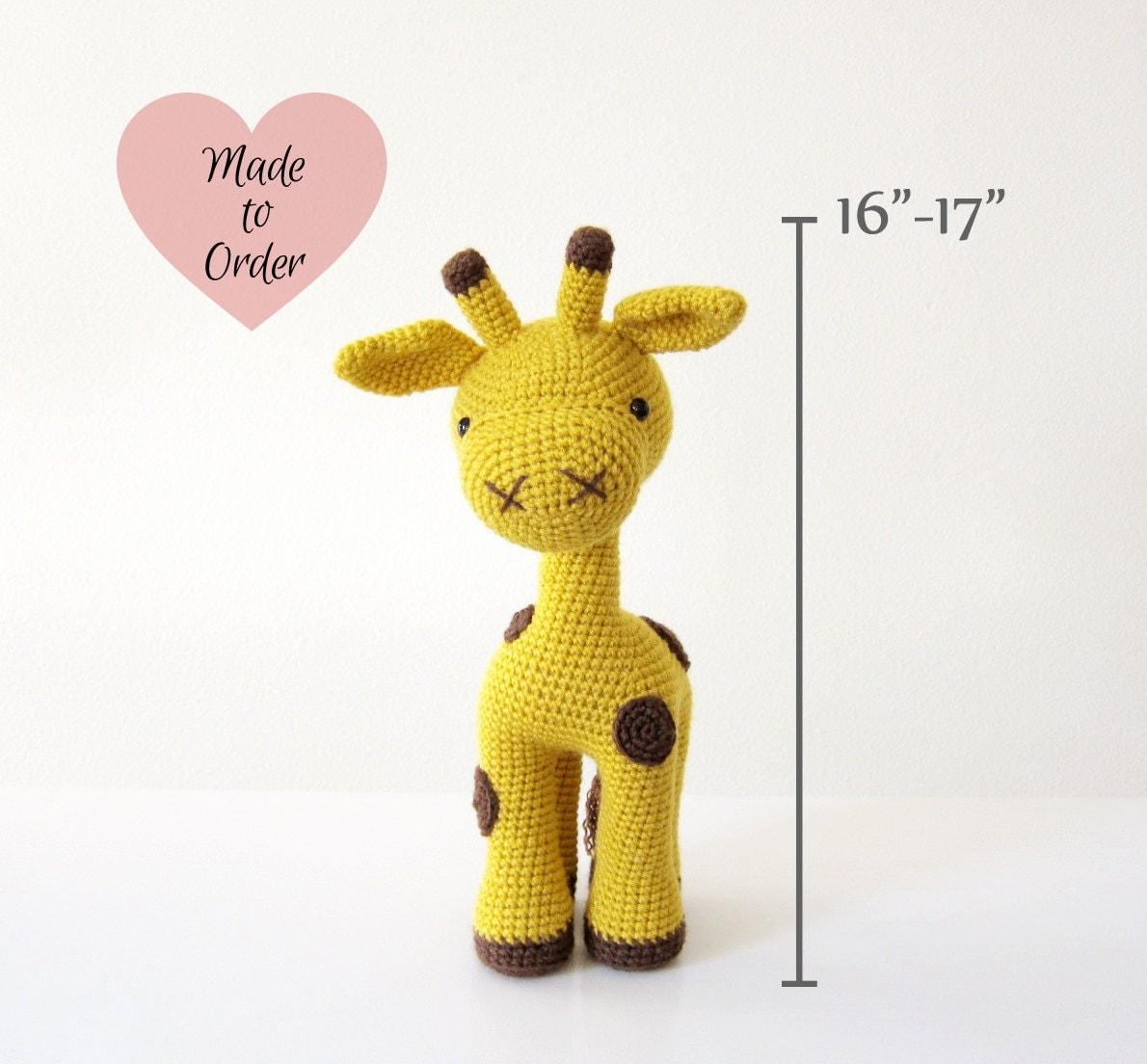 Cuddly Amigurumi Giraffe : MADE TO ORDER: Amigurumi Giraffe Crochet Stuffed Toy