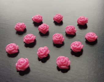 Pink Rose Floating Charm for Floating Lockets-1 Pc-Gift Idea for Women