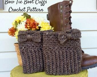 Easy Brown Boot Cuff Crochet Pattern, Beginners Boot Cuff Crochet Pattern and Photo Tutorial