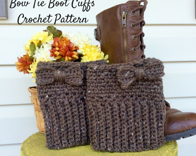Easy Brown Boot Cuff Crochet Pattern, Beginners Boot Cuff Crochet Pattern and Photo Tutorial