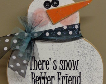Winter Decor, Snow Decor, Snowman Decor, Great Gifts, Chunky Snowman