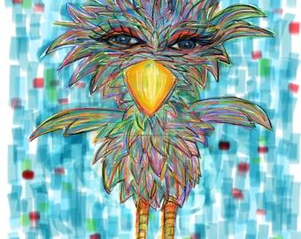 Sassy Bird Print