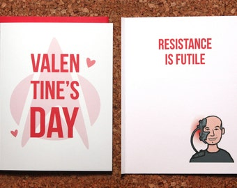 Star Trek Valentine Card / Picard, Borg, valentine's day card, TNG