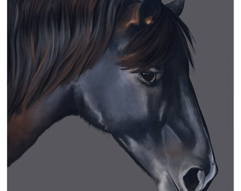Green Meadow Farm Horse Portrait - Domino