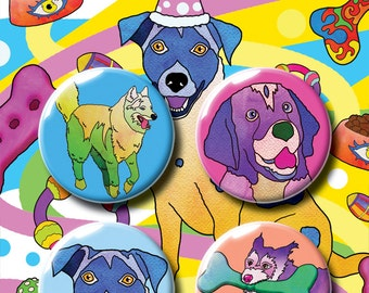 Dogs Badge Pack #1. Pin Badge. Pin Badges. Badge. Badges. Button Badge. Button Badges. Dog Pins. Pin. Kids Gift. Childrens Gift.