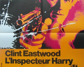 Original 1971 Clint Eastwood 'Dirty Harry' French Movie Poster