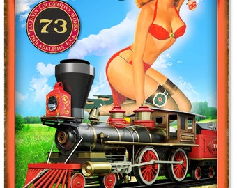 Enjoy the Scenery Railroad Pin Up Girl Sign RG6138