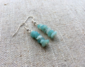 Beautiful Sea Green Amazonite Earrings