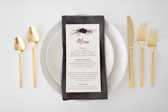 nellie wedding menus (sets of 10)  // lola louie paperie