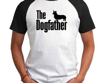 The dogfather Pembroke Welsh Corgi Raglan T-Shirt