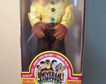 1992 Telco Wolfman Motionette, Universal Monsters, In Box, Mint!!