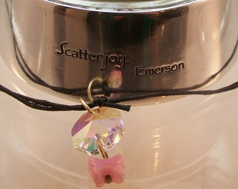 Star, Heart or Butterfly Car Rearview Mirror Charm, Whimsical Gifts, Sweet 16, Crystal, Sun Catcher, Rear View, Pink, Blue, Gold, Sparkly