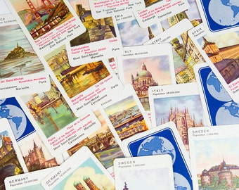 Famous Cities - Happy Families Card Game No. 287