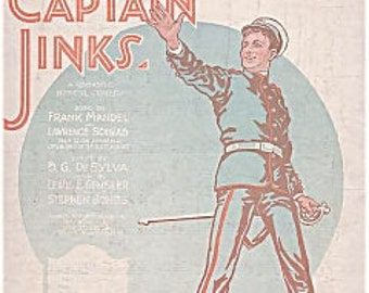 1925 *Fond Of You* Sheet Music from CAPTAIN JINKS of the Horse Marines
