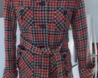 Vintage 60's/ 70's Wool Plaid Jacket