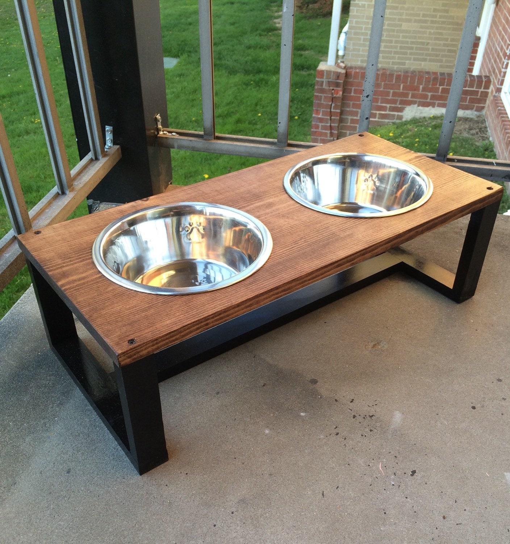 Modern pet bowl holders wood dog bowl holder contemporary - photo#1