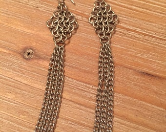 Chainmaille Kite Earrings