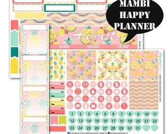 Pineapple MONTHLY Planner Kit / Happy Planner Stickers / Mambi Stickers / Monthly Sticker Kit #SQ00286-MHP