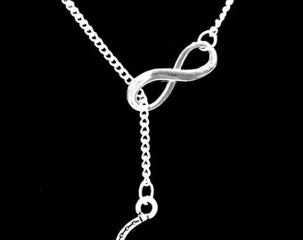 Gift For Her, Infinity Horseshoe Cowgirl Country Western Ranch Y Lariat Necklace