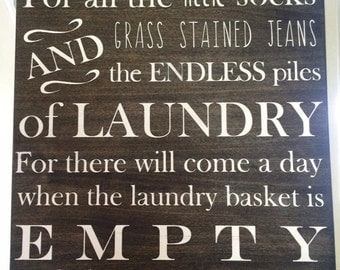 Thankful for laundry sign
