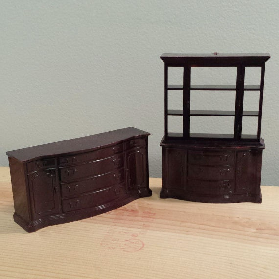 Marx dollhouse dining room furniture 3 4 scale dollhouse - Dollhouse dining room furniture ...