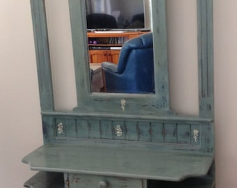 Hall Stand with Mirror - Up-cycled Furniture