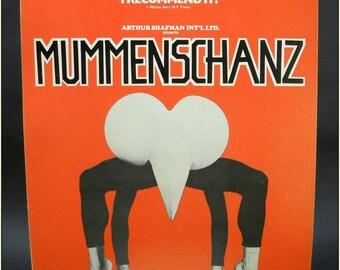 Mummenschanz / American Theater / St. Louis, MO / Arthur Shafman / Play Poster / Theater Poster / Window Card / Avante Garde / Abstract Art