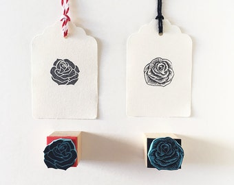 Rose mini stamps, rubber stamps, hand carved, flower decor, wedding stamping, Rose art, mounted stamp