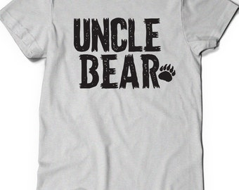 Uncle Bear T-Shirt T Shirt Tee Mens Funny Humor Gift Present Baby Shower Gift PArty World's Best Brother Pregnancy Announcement Reveal