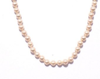 Vintage pearl necklace , pearl necklace, necklace, beaded necklace
