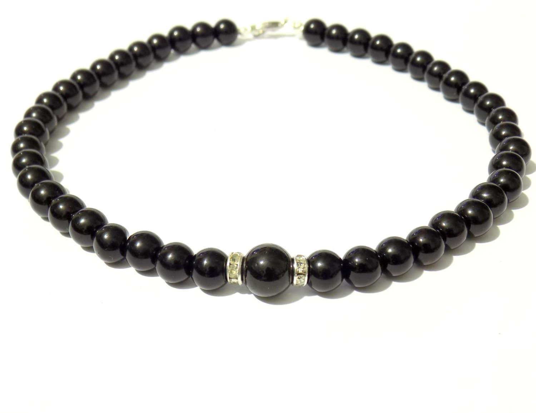 black pearl necklace black necklace black bead necklace. Black Bedroom Furniture Sets. Home Design Ideas