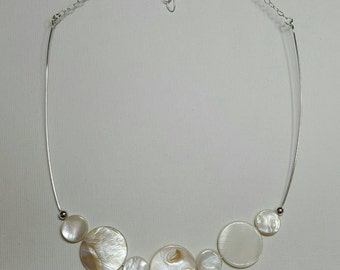 Sterling Silver Choker with Shell