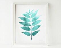 leaf art print printable art bathroom wall art bedroom wall decor 8x10 printable