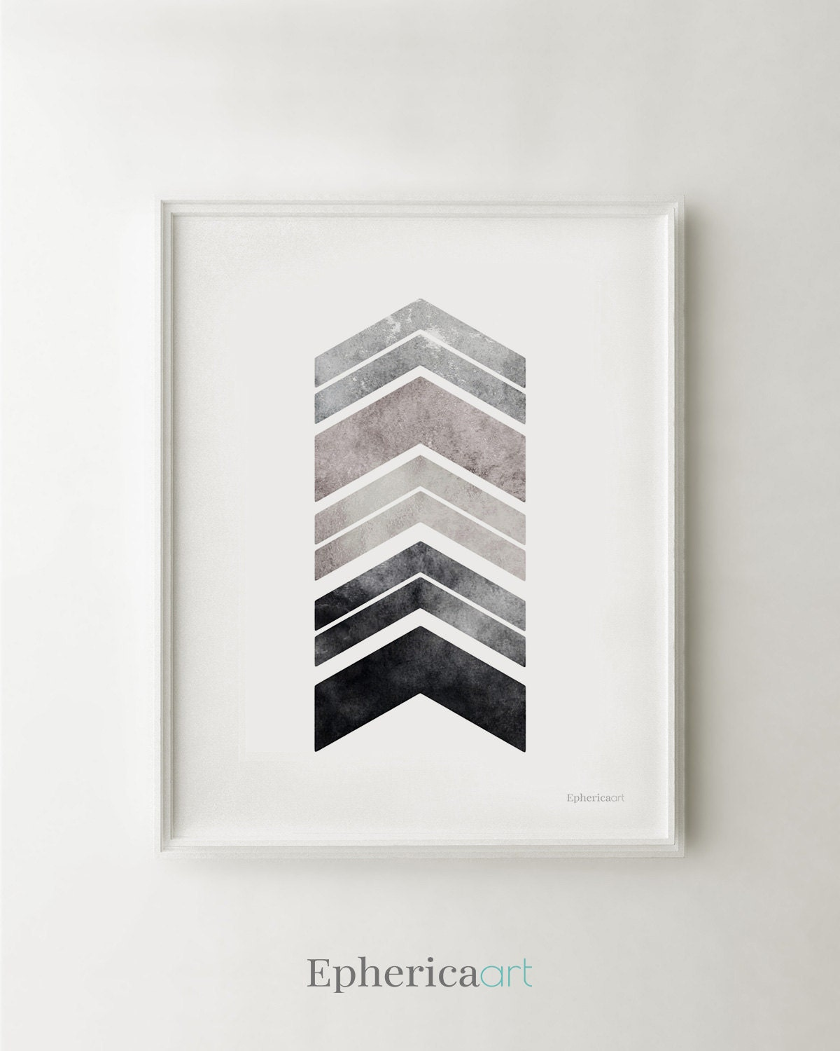 Bedroom Art Printables: Gray Art PRINTABLE Wall Art Print Bedroom Decor Gray Chevron