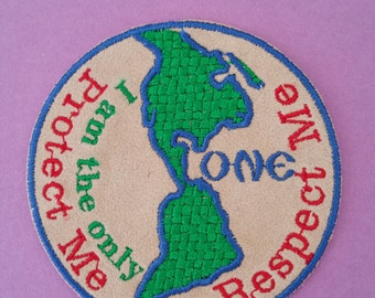 Earth iron on applique Earth sew on applique Save the earth patch Earth patch Planet applique  Planet patch Globe applique Globe patch