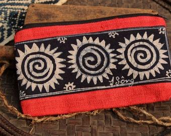 Hmong Handmade Batik Hemp Purse Pouch