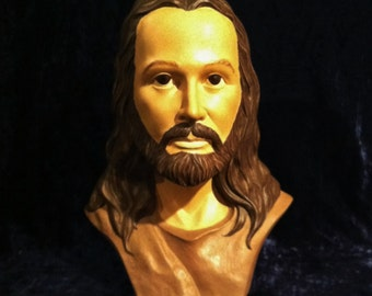 Vintage 1970's Ceramic Bust Of Jesus