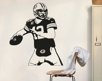Green Bay Packers Decal Aaron Rodgers Wall Decal Art Decor Sticker Vinyl  Poster Packers Decal Packers Part 37